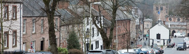 View Along Boroughgate In Appleby Looking Towards The Historic Moot Hall And St Lawrences Church