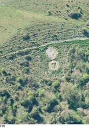 Two chalk military badges 380m and 550m west of Sheep Well