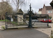 ENTRANCE GATES AND PIERS TO GREENBANK CEMETERY AND RAILINGS
