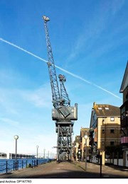 STOTHERT AND PITT CRANES ON NORTH AND SOUTH SIDES OF THE