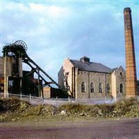 Engine house, chimney and headstocks to the former Pleasley Colliery, Chesterfield Road, Pleasley - Bolsover