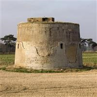 "Martello Tower ""Z"", south east of Buckanay Farm, Alderton - Suffolk Coastal"