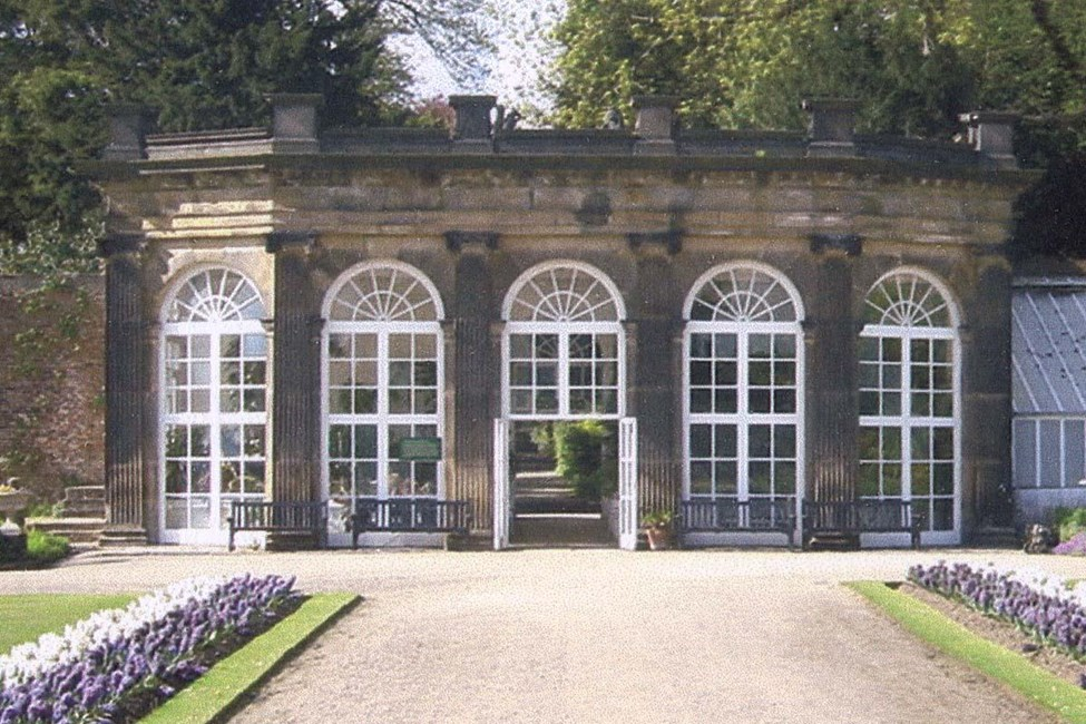 Orangery with flanking walls, bothies and pavilion (Ripley Castle), Ripley - Harrogate