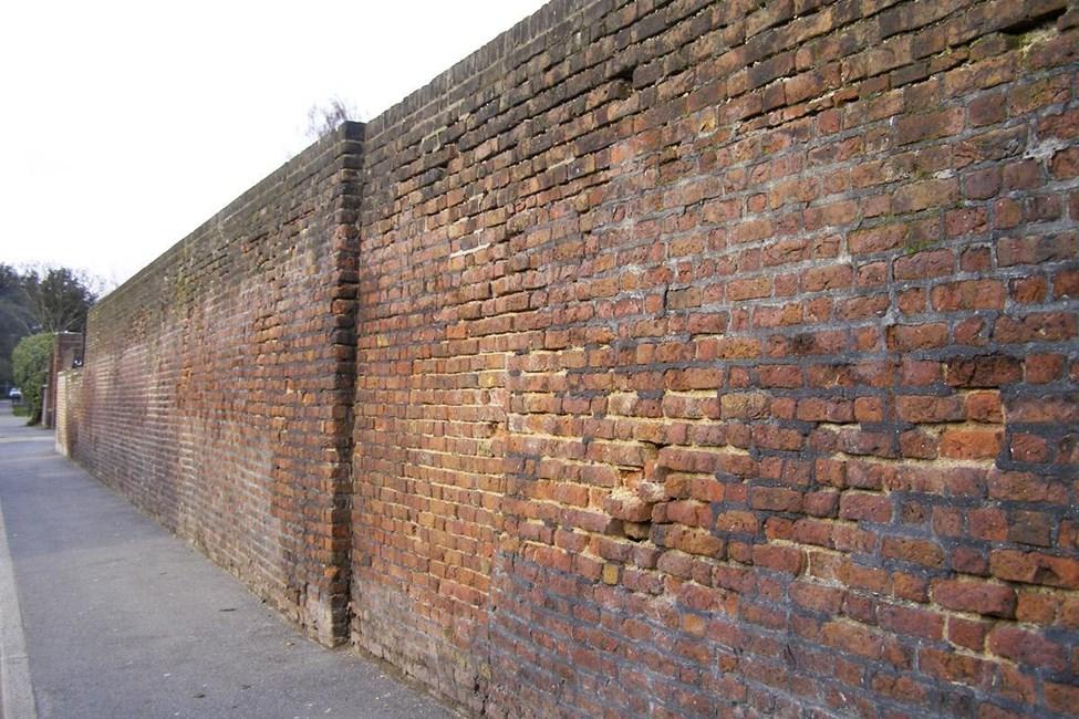 West wall, Bruce Castle Park, Church Lane, Tottenham N17 - Haringey