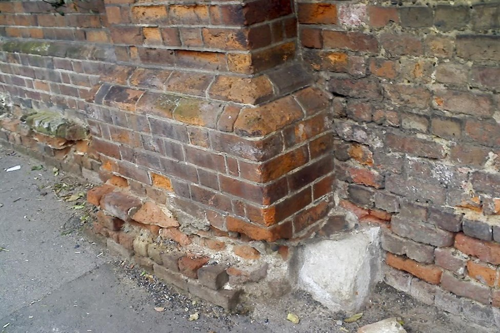 Boundary wall fronting road from Nos 118-128, Stanmore Hill (east side), Stanmore - Harrow