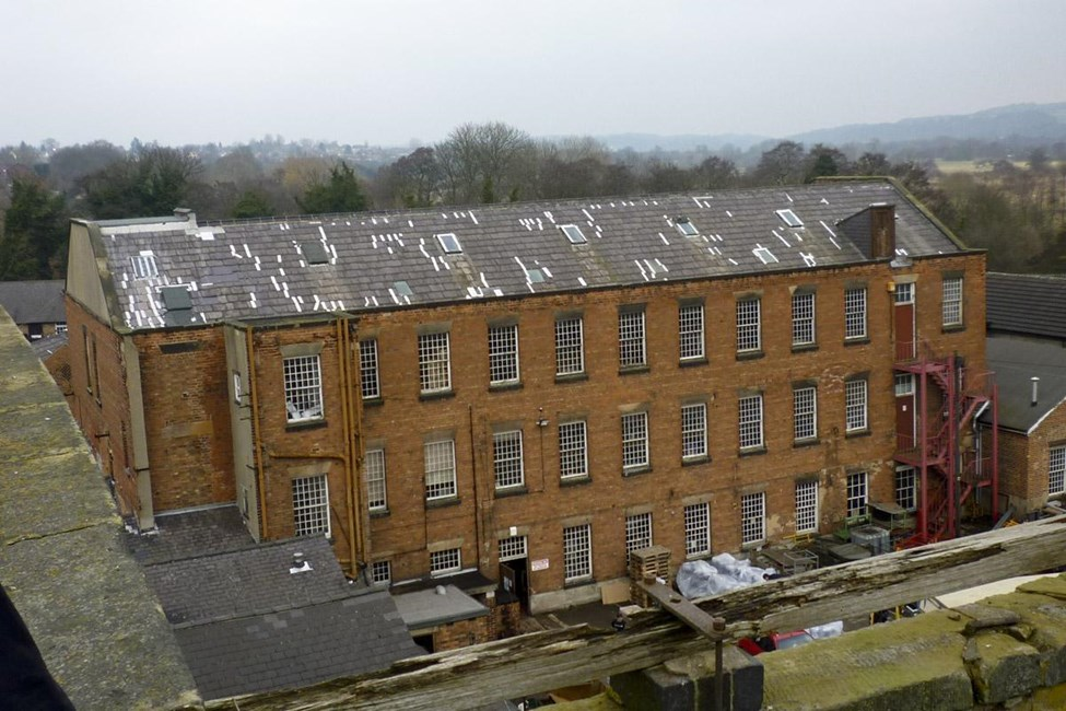 Darley Abbey Mills (North Complex) North Mill, engine house, boiler house, Old Lane, Darley Abbey, Derby - Derby, City of (UA)