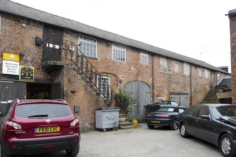 Darley Abbey Mills (North Complex) preparation building, cottage, workshop and cart sheds, Old Lane, Darley Abbey, Derby - Derby, City of (UA)