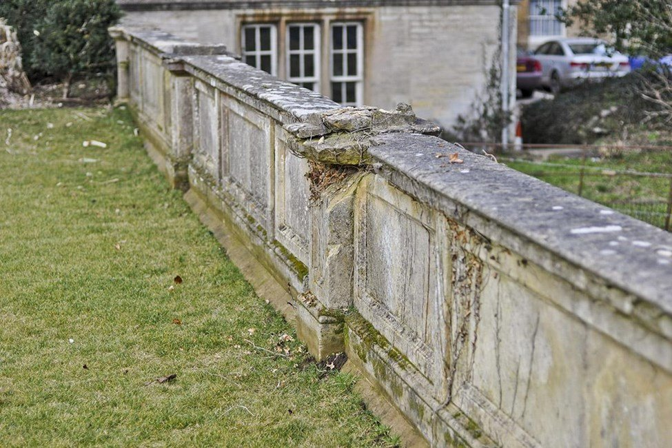 Seats, balustrades and terraces to east of Stoke Rochford Hall, Stoke Rochford - South Kesteven