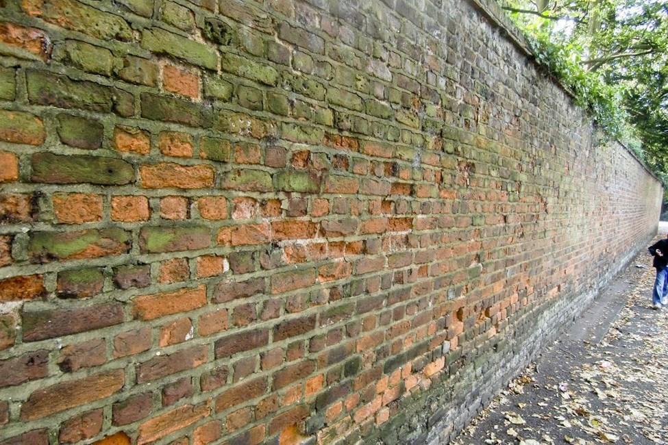 Garden wall to Bernays Gardens, Old Church Lane, Stanmore - Harrow
