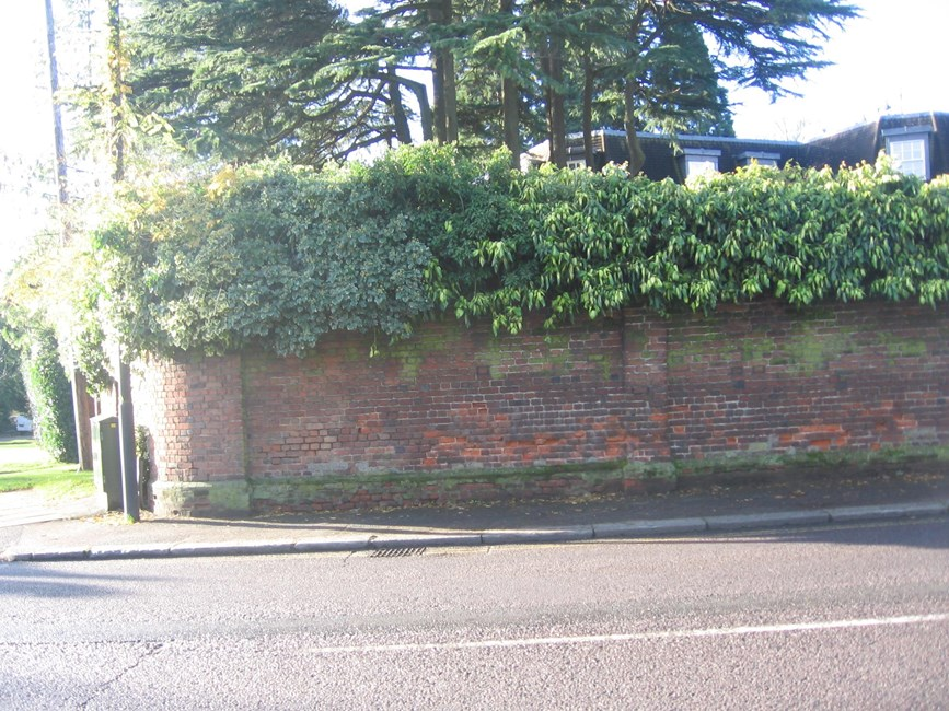 Boundary wall fronting road (Wellington House), Stanmore Hill (West Side), Stanmore - Harrow