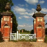 Pair of gate piers 204 metres east of entrance to Home Farm, Park Lane, Hampstead Marshall - West Berkshire (UA)