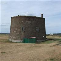 Martello tower on golf course adjoining Woodbridge Haven, Felixstowe - Suffolk Coastal