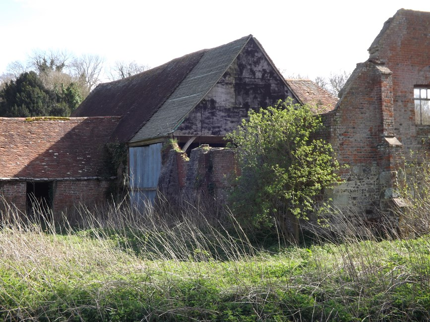 Barn and outbuilding range, Tarrant Abbey Farm, Tarrant Crawford - North Dorset