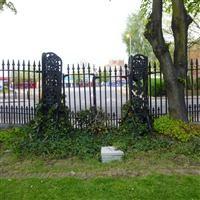 Railings and gates to Caroline Gardens, Asylum Road SE15 - Southwark