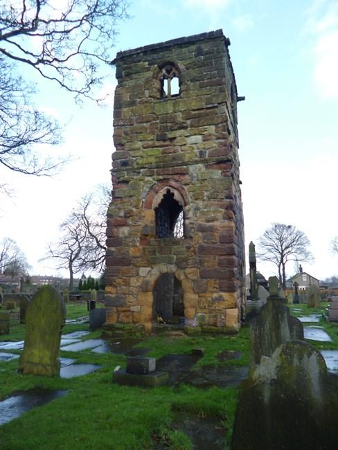 Ruins of Chapel of St Thomas of Canterbury, Windlehurst Roman Catholic Cemetery - St Helens