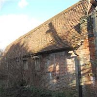 Two brick barns and garden walls to south of Bretons House, Rainham Road, Hornchurch - Havering