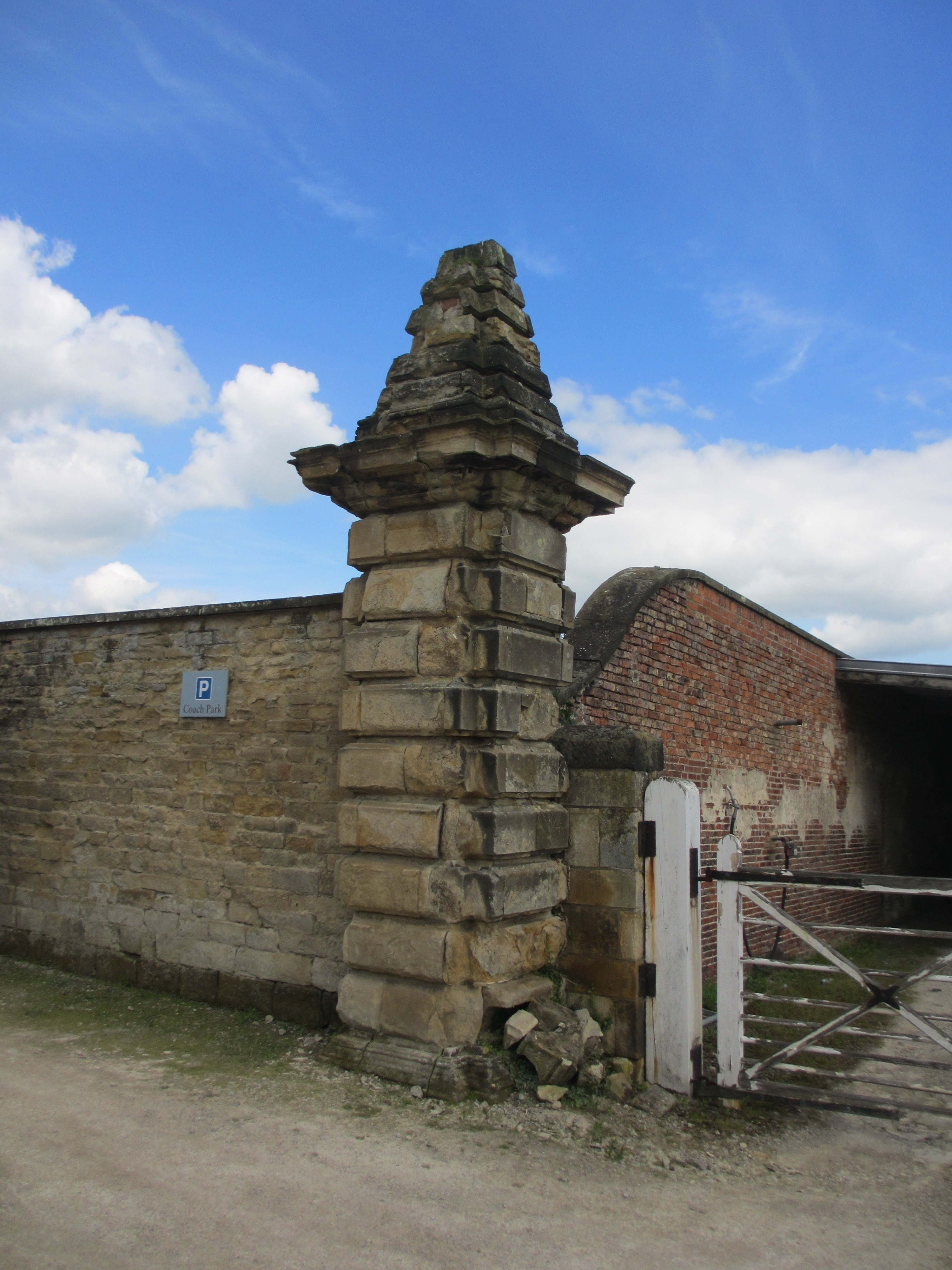 Walls to walled garden with gates and corner piers, Castle Howard Estate, Henderskelfe