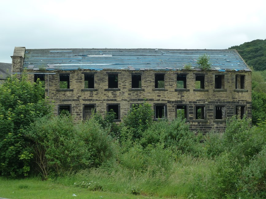 Mill Building at Low Mills, Low Mill Lane, Keighley - Bradford