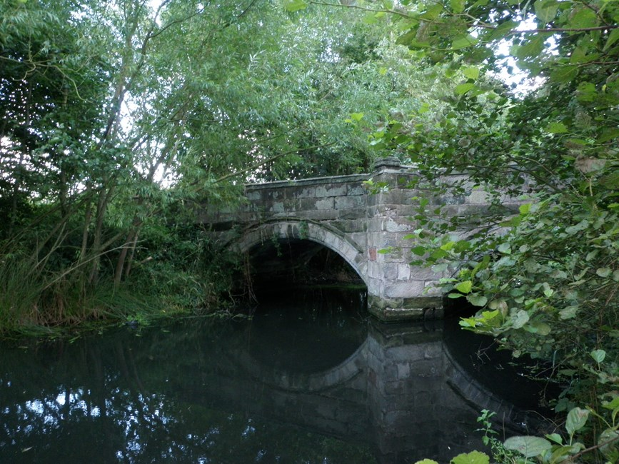 Bridge over moat, Hulme Hall Lane, Allostock - Cheshire West and Chester (UA)