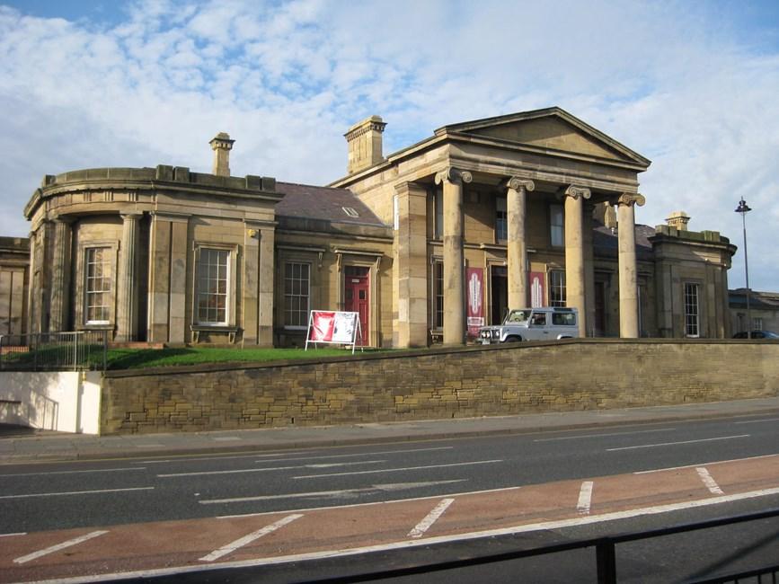 Monkwearmouth Station Museum, with screen walls, footbridge and waiting room, Sunderland - Sunderland