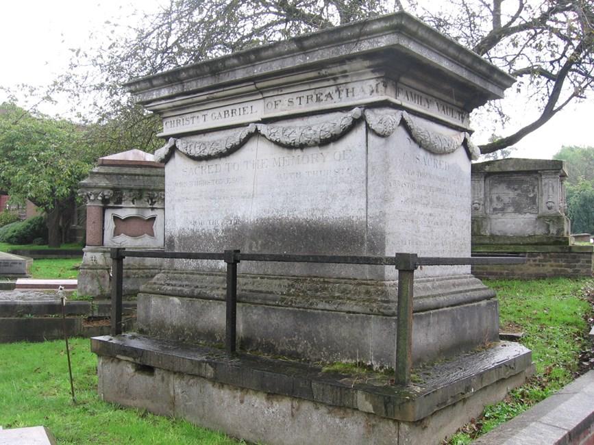 Tomb of Christopher Gabriel, Norwood Road, West Norwood Memorial Park SE27 - Lambeth