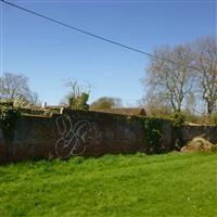 Garden walls at Beddington Place (Carew Manor Special School) to north of Orangery walls, Church Road - Sutton
