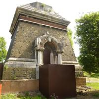 Bases of pair of chimneystacks at Abbey Mills Pumping Station, Abbey Lane E15 - London Legacy (MDC)