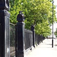 Railings, walls, gate piers and gates to Caledonian Park, Market Road N7 - Islington