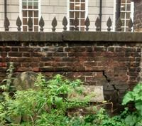 Wall on the south side of St John with All Saints' churchyard, Waterloo Road SE1 - Lambeth