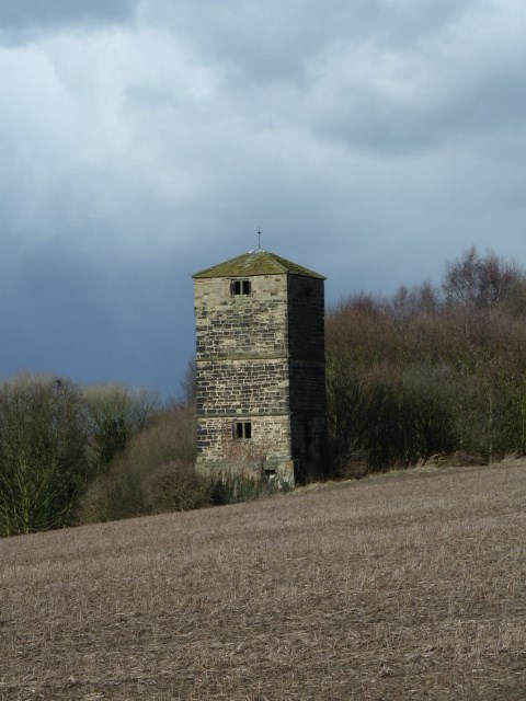 Dame Mary Bolle's water tower including water wheel housing and overflow channel, Heath Common, Warmfield cum Heath - Wakefield