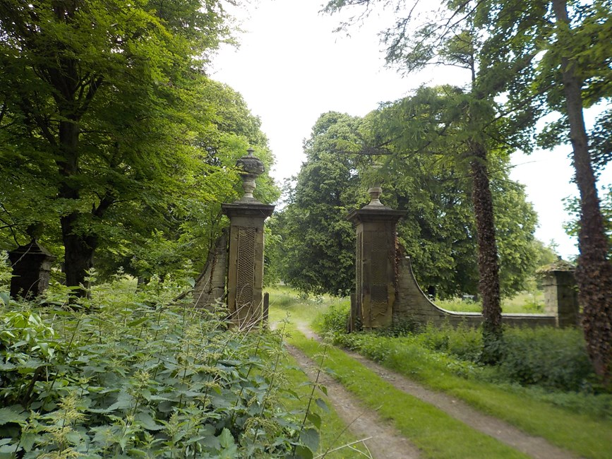 Gate Piers on Former Drive Approximately 150 metres north of Ledston Hall, Hall Lane, Ledston - Leeds