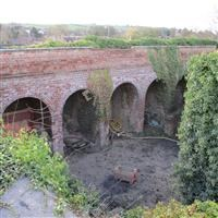 Outer wall and south east bastion, Bridge Street, Lower Weedon, Weedon Bec - Daventry