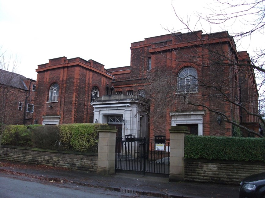 Synagogue of Withington Congregation of Spanish and Portuguese Jews, Old Lansdowne Road, Didsbury - Manchester