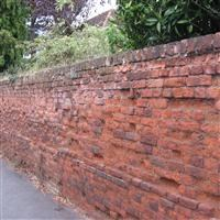 Wall in front of numbers 30 to 36 (even), Church Road, Hillingdon - Hillingdon