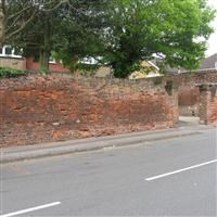 Walls to east and south of garden of number 28 (Coombe House), Church Road, Hillingdon - Hillingdon