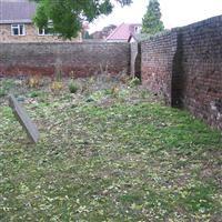 Walls around St Martin's churchyard, south side, Church Road, Hillingdon - Hillingdon