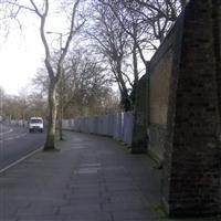 Boundary wall to Kensal Green Cemetery, Harrow Road W10 - Kensington and Chelsea