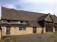Southam tithe barn and shelter shed, Southam Lane, Southam - Tewkesbury