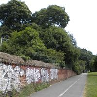 Boundary walls to Beddington Place along east side of churchyard and along Church Lane, Church Road - Sutton