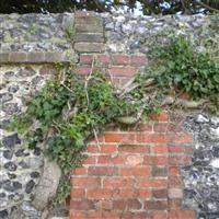 Churchyard walls, Church Road - Sutton