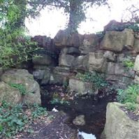 Pulhamite fernery, Stockwell Close, Bromley Palace Park - Bromley