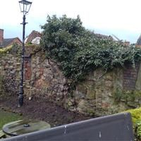 Deanery wall, Lower Gungate, Tamworth - Tamworth