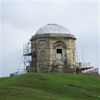 Temple of Victory with railed enclosure, Allerton Park, Flaxby - Harrogate