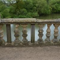 Bridge over lake, Grantham Road, Harlaxton - South Kesteven