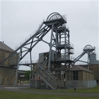 Woodhorn Colliery, east & west shaft head gear and Walker fan house, Ashington - Northumberland (UA)
