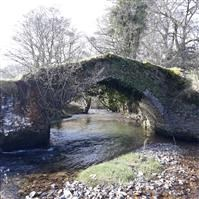 Packhorse Bridge about 50 metres west of Lyncombe, Winsford, West Somerset - Exmoor (NP)