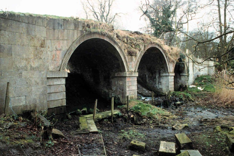 Bridge over lakes at Norton Place, Norton Place, Glentham - West Lindsey