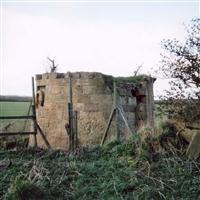 Bastion and ha-ha wall, north of Kirkleatham Hall Stables, Kirkleatham, Redcar - Redcar and Cleveland (UA)