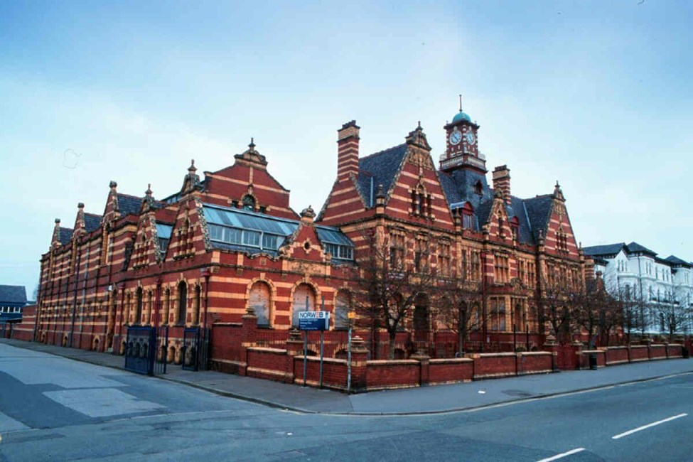 Victoria Baths with attached forecourt walls, Hathersage Road, Longsight - Manchester