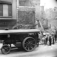 Blitz Bomb Damage, Cheapside, City of London, Greater London